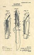 Marble's Safety Folding Hunting Knife Us Patent Art Print - Antique 329