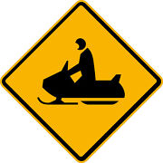 Snowmobile Symbol Sign 24x24 Or 30x30 Engineer Grade Reflective Sign