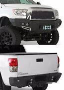 Smittybilt Front/rear D-ring Bumper Set And Led Lights For 2007-2011 Toyota Tundra