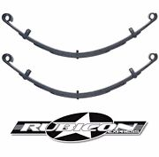 Rubicon Express Extreme Duty Rear Leaf Spring Set 4.5 Lift For 87-95 Wrangler