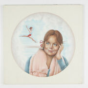 Untitled Girl Dreaming Of Gymnast By Anthony Sidoni 1984 Signed Oil On Canvas