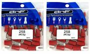 200 Pack 8 Gauge Red Spade Electrical Terminals 8 - Ships Free Today