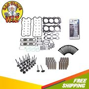 Head Gasket Set Bolts Exhaust And Intake Engine Guides Valves Fits 05-13 Dohc 24v