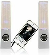 White Stereo Music Led Dancing Water Fountain Light Speakers For Ipad Iphone Pc