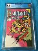 New Mutants Annual 2 - Marvel - Cgc 9.2 White Pages - 1st Psylocke