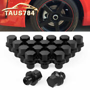 20 Black 14x1.5 Lug Nuts Mag Seat W/washer For 2006-2019 Land Rover Range Rover
