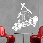 Restaurant Wall Sticker Vinyl Decal Chefs Speciality Cafe Kitchen Food Sign R4