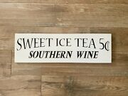 Sweet Tea Wood Sign | Southern Wine | Farmhouse Kitchen Decor | Hand-painted