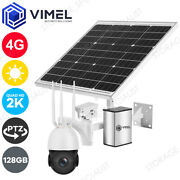 4g Solar Powered 128gb Security Ptz Ultra Hd 2k 5mp Wifi Home Outdoor Camera