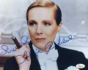 Julie Andrews Hand Signed 8x10 Photo Jsa Loa Victor Victoria The Sound Of Music