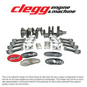 Chevy 350-383 Bal. Scat Stroker Kit, 1pc Rs, Forgedflatpist., H-beam 6 Rods