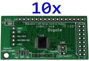 10x Serialuart/i2c/spi Adapters For 1602/1604/2002/2004/4002 Lcd In Arduino/pic