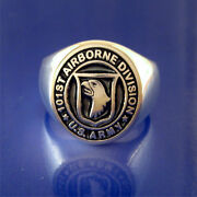Us Army 101st Airborne Division Ring - Sterling Silver