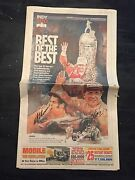 Lot Of 12 Racing Signed Indianapolis 500 Newspapers Indy Car Aj Foyt Danica Etc