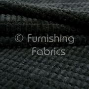 10 Meter Roll Of Furnishing Upholstery Fabric Brick Effect Pattern Cord In Black