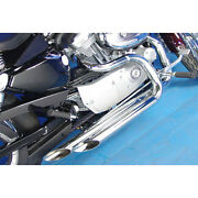 Chrome Side By Side Slash Cut Drag Exhaust Pipes For 2004-2006 Harley Sportster