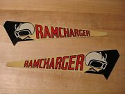 Nos Pair Mopar 1971-2 Charger Super Bee Air Grabber Door Decals Real And Rare