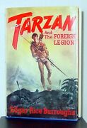 Collectible Readtarzan And The Foreign Legion Hardcover W/ Dust Jacket 1st Ed.