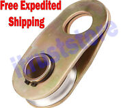 Winch Pull Cargo Pulling Snatch Roller Block Cable Recovery Pulley Puller Tool