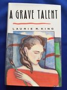A Grave Talent - First Edition And Edgar Winner Signed By Laurie R. King