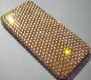 Gold Crystal Rhinestone Bling Back Case For Iphone 5 Made W/ Elements