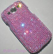 Rose Ab Crystal Bling Back Case For Samsung Galaxy S4 Made W/ Elements