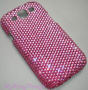 Rose Pink Crystal Bling Back Case For Samsung Galaxy S4 With Elements