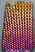 Volcano Crystal Bling Back Case For Samsung Galaxy S4 Iv With Elements