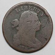 1797 S-142 R-5+ Rev Of And03997 W/ Stems Draped Bust Large Cent Coin 1c