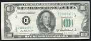 Fr. 2159-b 1950-b 100 One Hundred Star Frn Federal Reserve Note About Unc