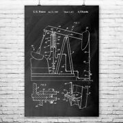 Oil Well Pump Jack Poster Print Energy Contractor Roughneck Gift Oil Wife Gift