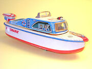 Tin Plate 3687 Cabin Cruiser Rosemarie By Marusan Japan In Very Good Condition