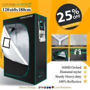 Mars Hydro 4and039x2and039 Mylar Hydroponic Grow Tent Room For Indoor Plant Growing 1680d