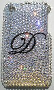 Initial Crystal Bling Back Case For Samsung Galaxy S4 Made W/ Elements