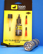 Loon Uv Kleber Flow 2 Dosier-spitzen And Pinsel And Uv Lampe Uv Flow And Uv Torch