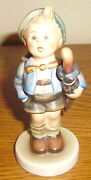 Hummel Figurine 198 Home From Market Boy With Pig Tmk 2 Full Bee