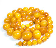 50 G. Amber Necklace Antique Old Honey Color Vintage Butterscotch Egg Yolk