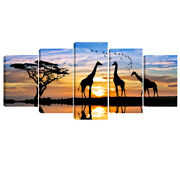 Canvas Print Painting Picture Home Decor Wall Art Photo Landscape Giraffe Framed