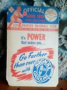 1946 Official Score Card Los Angeles Baseball Club