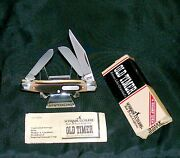 Schrade 34ot Knife Junior Stockman 3-5/16 1970and039s W/original Packaging Papers