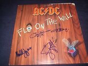 Ac/dc Signed Record Titled Fly On The Wall 4 Members Angus Young Incredible
