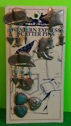 Western Express Scatter Pins Turquoise Collectibles Gift