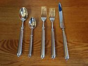 Prouna 5 Piece Place Setting Flatwear 2 Spoons, 2 Forks And 1 Knife New