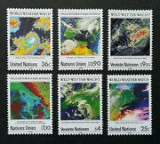 United Nation 25th Anniversary Of World Weather Watch 1989 Climate Stamp Mnh
