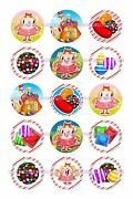 Candy Crush 1 Circles Bottle Cap Images. 2.45-5.50 Free Shipping