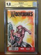 Cgc 9.8 Ss Amazing Spiderman 1 Sketch Cover Spider-man Shelby Robertson