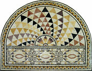 Arched Majestic Tile Art Rays Wall Carpet Rug Floor Decor Marble Mosaic Cr474