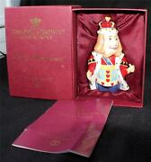Nib Dept 56 Candle Crown Collections Alice In Wonderland King Of Hearts Figurine