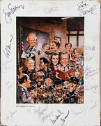 Authentic Hill Street Blues Cast Signed Tv Guide Cover 1679 Print 15 Signatures