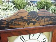 Antique Marsh Gilbert And Co. Federal Style Mirrored Shelf Clock